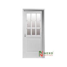 Puerta Linea Deluxe Inyectada 2 Tableros 1/2 Vidrio 0.85×2.00 (D230D) – Nexo