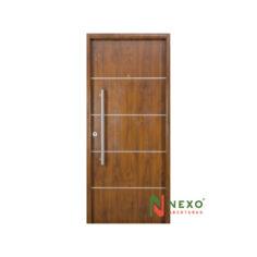Puerta Linea Deluxe Wood Nogal Lisa 0.90×2.05 (DN080) – Nexo