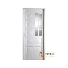 Puerta Linea Eco 10 Tableros Con Vidrio Lateral 0.88×2.00 (E140D) – Nexo