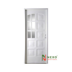 Puerta Linea Eco 10 Tableros Con Vidrio Lateral 0.88×2.00 (E140I) – Nexo