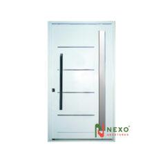 Puerta Linea Galva Pivotante con Vidrio Lateral 1.15×2.05 (GP541) – Nexo