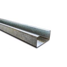 Pefil C Galvanizado 100x45x2 mm x 12 metros
